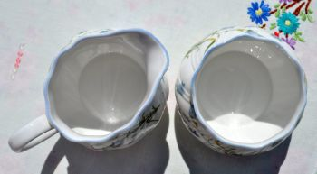 Queen's Rosina China Harebell Milk Jug and Sugar Bowl
