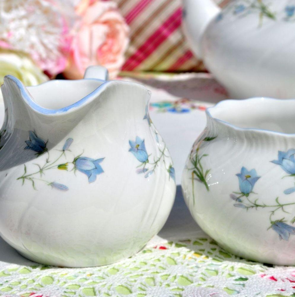Elegant fine bone china with blue harebell design