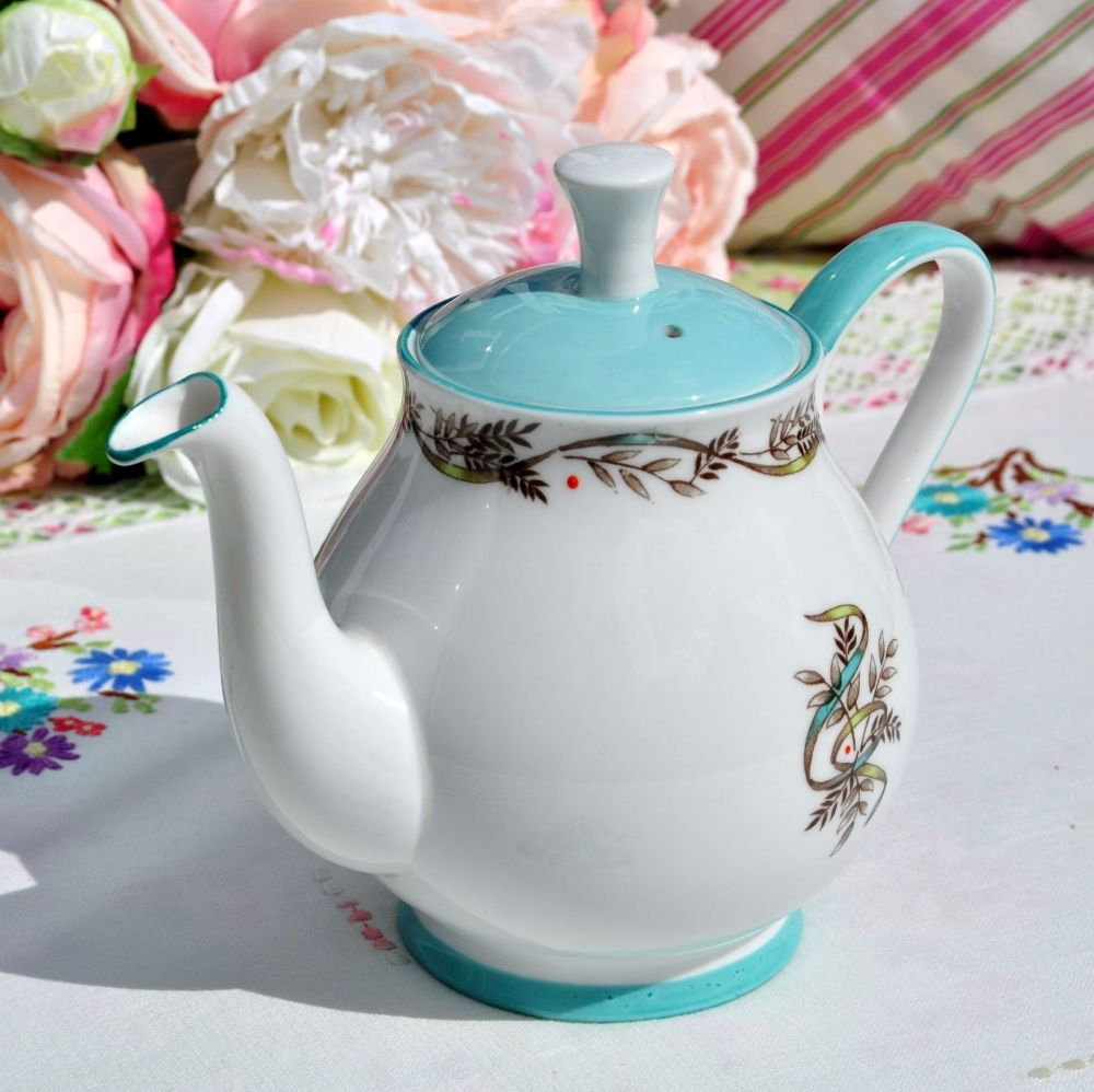1950s fine bone china retro teapot