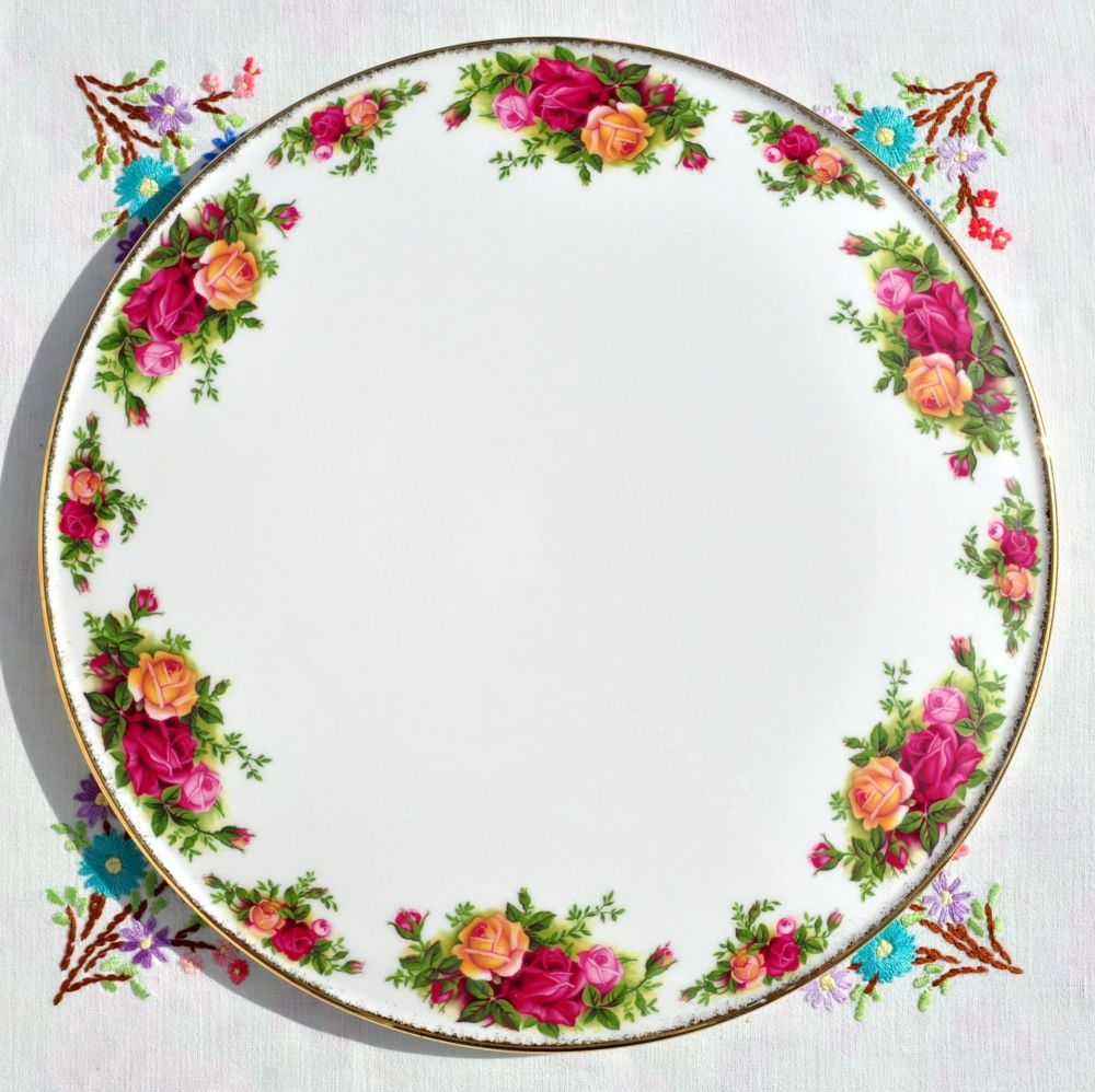 Royal Albert Old Country Roses Vintage Gateau Cake Plate