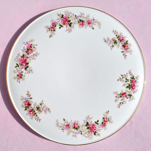 Royal Albert Lavender Rose Vintage Gateau Cake Plate