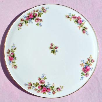 Royal Albert Moss Rose Vintage Gateau Cake Plate