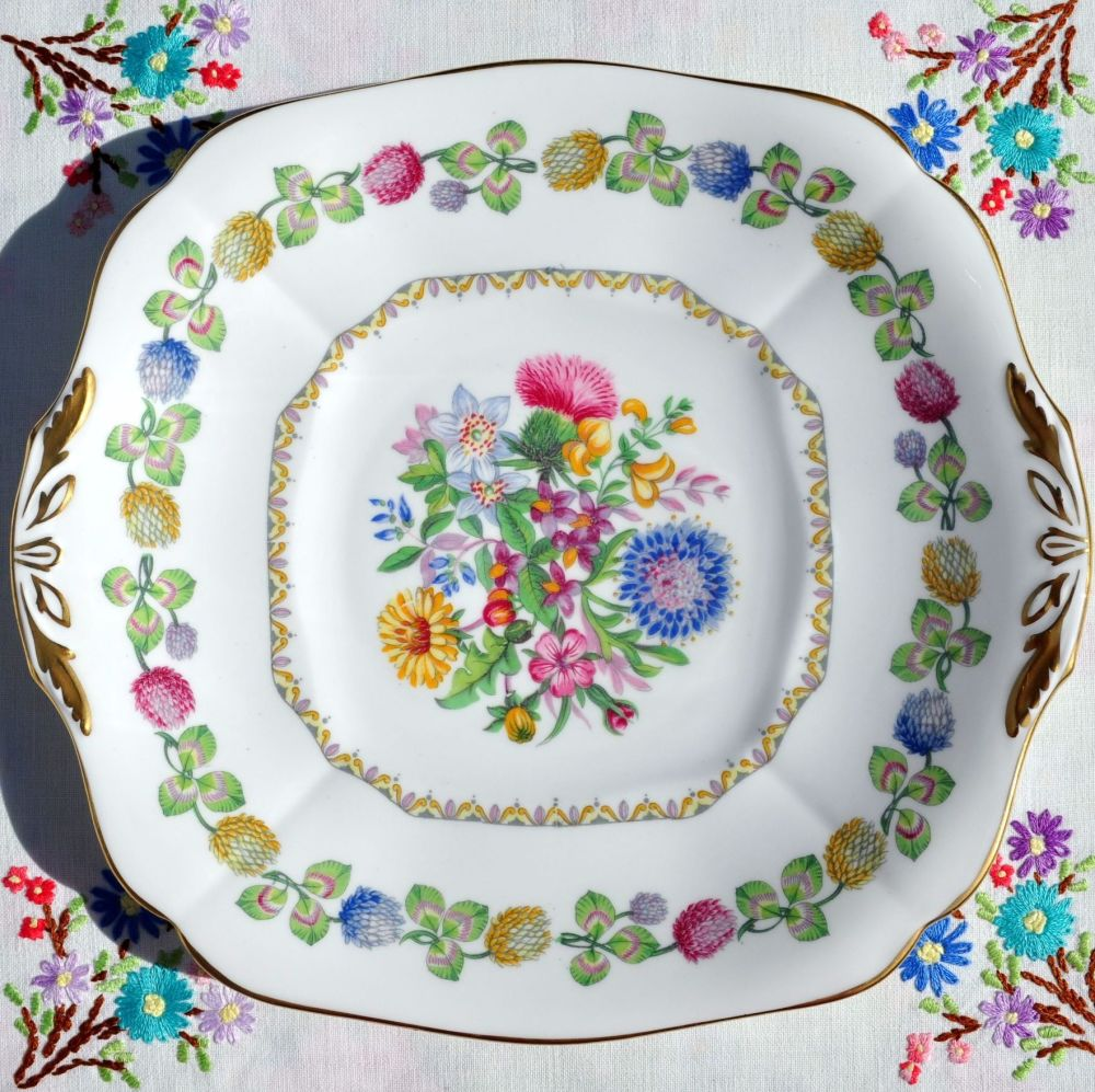 Adderley Meadowsweet Vintage Cake Plate c.1950s
