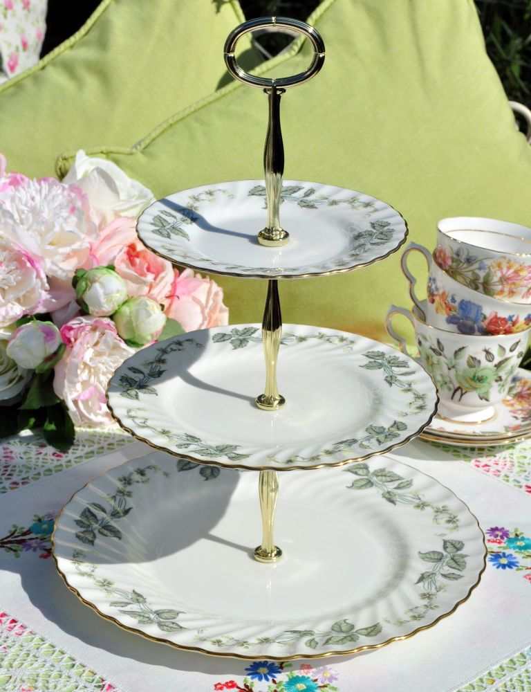 Minton Greenwich Pattern 3 Tier Cake Stand c.1960s