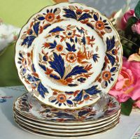 Booths Dovedale Pattern Set of Six 17cm Tea Plates