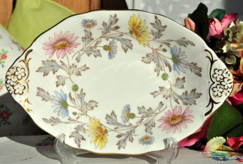 Foley Somerset Pretty Floral Biscuit Tray c.1950s