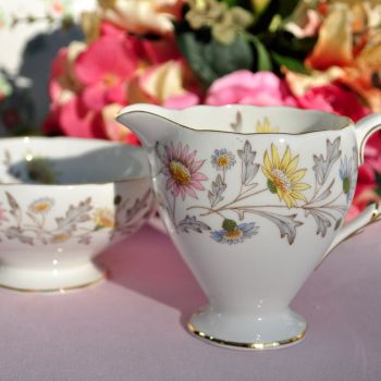 Foley Somerset Pretty Floral Milk Jug and Sugar Bowl.1950s