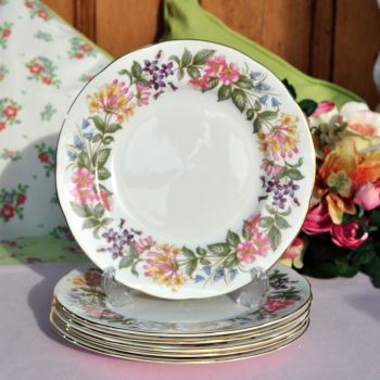 Paragon Country Lane Vintage China 20.5cm Plates Set c.1957+