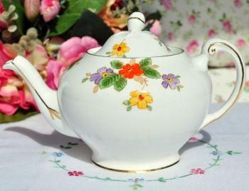 Tuscan China Hand Painted Art Deco Teapot