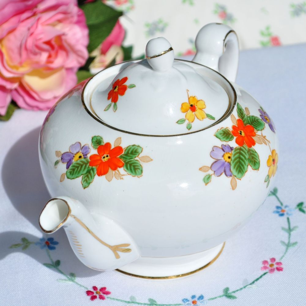Tuscan China Hand Painted Art Deco Teapot