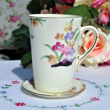 Tuscan Art Deco China Mug and Coaster c.1930s