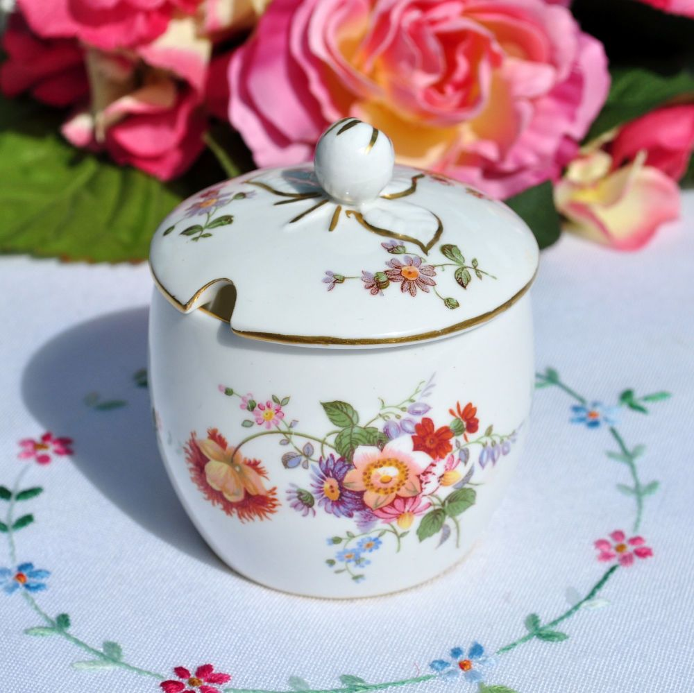 Royal Crown Derby Posies Preserve Pot and Lid c.1930s