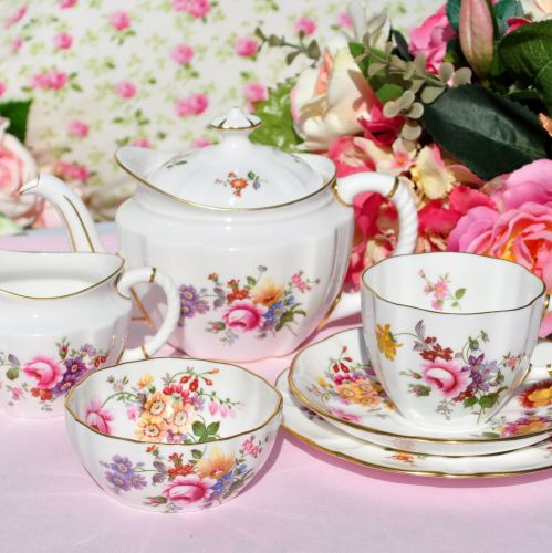 Royal Crown Derby Posies China Tea For One Tea Set