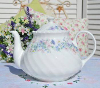 Wedgwood Angela Pastel Floral Large China Teapot