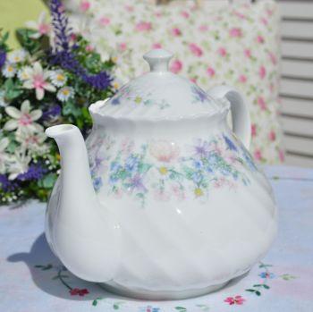 Wedgwood Angela Pastel Floral Large China Teapot