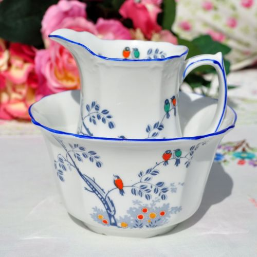 Foley China Little Birds Milk Jug and Sugar Bowl c.1920s