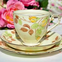 Royal Grafton Rose Bud China Teacup Trio c.1950+