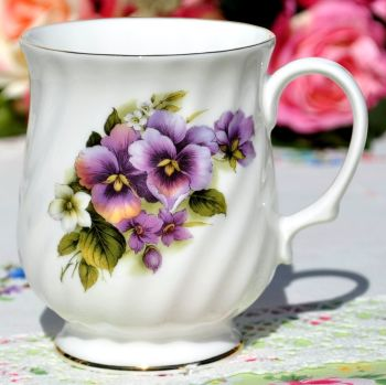 Sheltonian Floral Fluted or Embossed Tea and Coffee Mugs