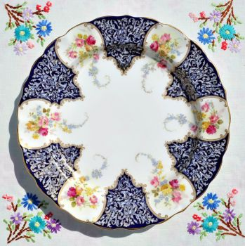 Antique Royal Worcester Floral Bone China Plate c.1897