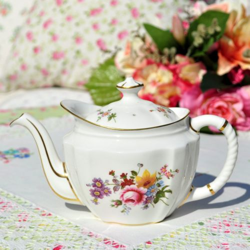 Royal Crown Derby Posies Small China Teapot c.1975