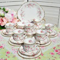 Paragon Victoriana Rose 21 Piece China Tea Set
