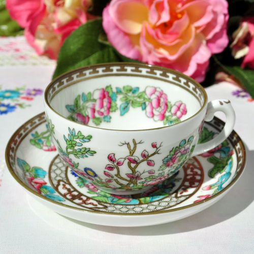 Coalport Indian Tree Pattern Teacup and Saucer c.1920s