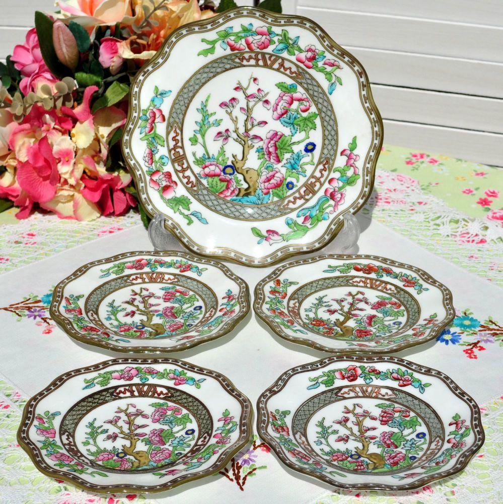 Antique Coalport Indian Tree Pattern Cake Plates Set