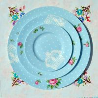 Royal Albert Polka Blue 3 Plates Place Setting