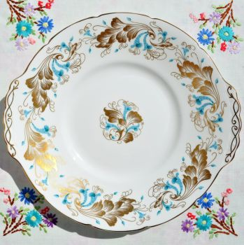 Coalport Strange Orchid Bone China Cake Plate