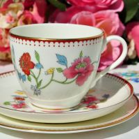 Royal Worcester Astley Pattern Teacup Trio c.1944-55