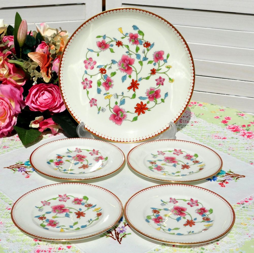 Royal Worcester Astley 5 Piece Cake Plate Set c.1944-55