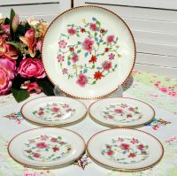 Royal Worcester Astley Cake Plate Set c.1944-55