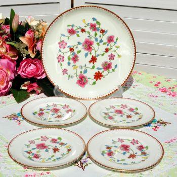 Royal Worcester Astley Cake Plate Set c.1944-55
