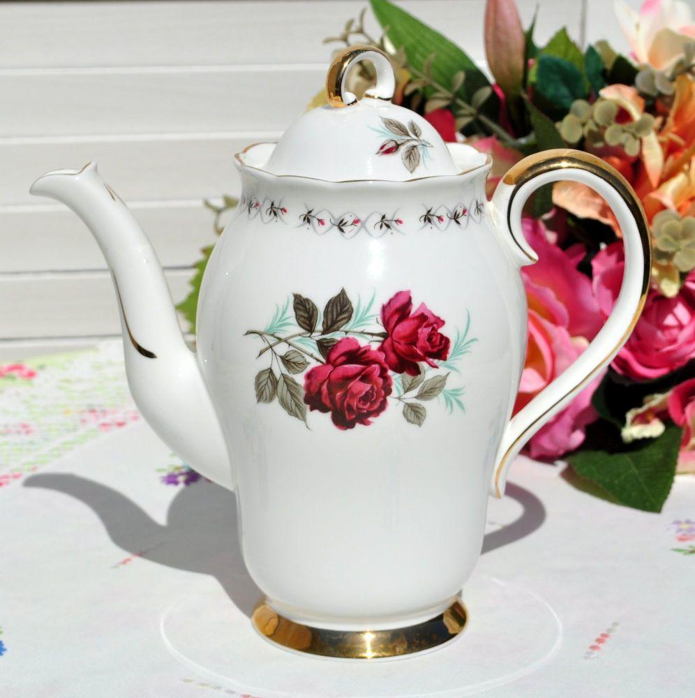 Adderley Persian Rose Tall 1.5 Pint Teapot c.1960s