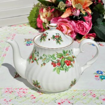 Berry Pattern Vintage Fine Bone China Teapot