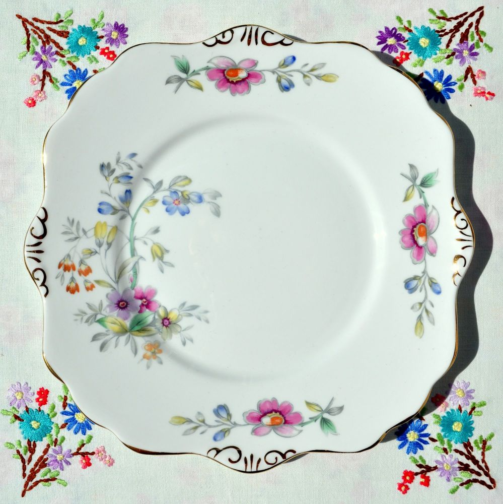Royal Stafford Bideford Cake Plate c.1950s