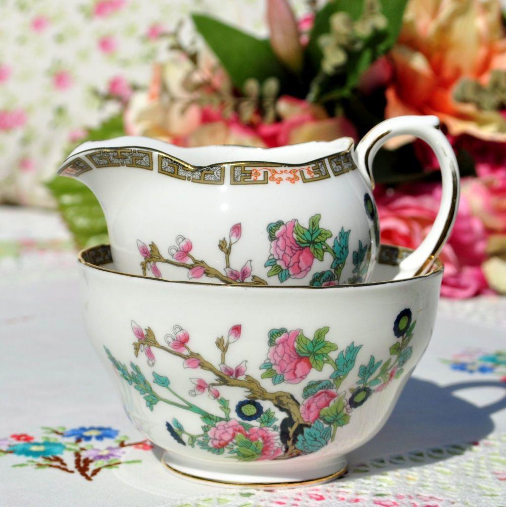 Duchess Indian Tree Pattern Milk Jug & Sugar Bowl c.1960s
