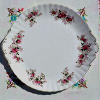 Royal Albert Lavender Rose Large Celebration Cake Plate