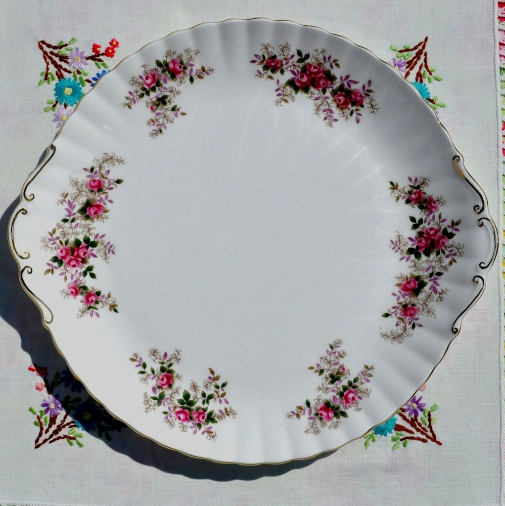 Royal Albert Lavender Rose Large Celebration Cake Plate