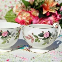 Wedgwood Hathaway Rose Milk Jug and Sugar Bowl