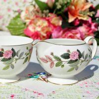 Wedgwood Hathaway Rose Milk Jug and Sugar Bowl