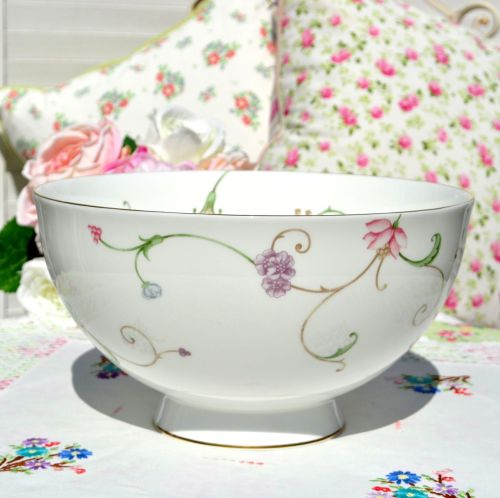 Royal Doulton Mille Fleurs Large Salad, Fruit, Punch Bowl