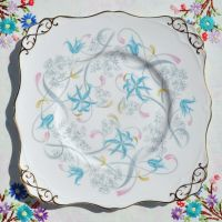 Tuscan Annabelle Vintage China Cake Plate c.1947+