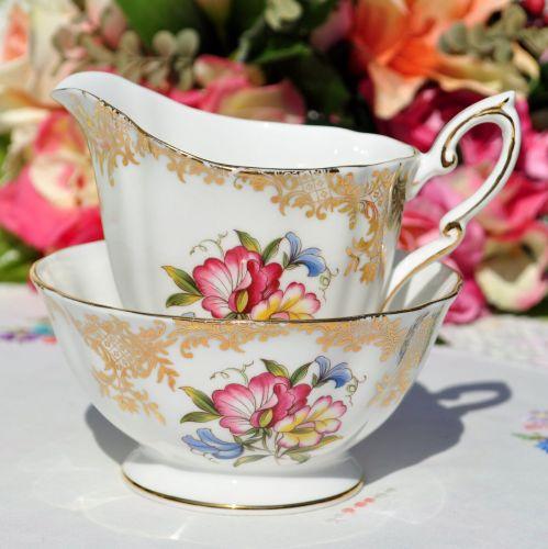 Royal Standard Floral Milk Jug and Sugar Bowl c.1960s
