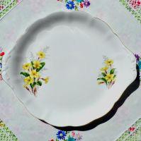 Royal Albert Primrose China Cake Plate c.1960s