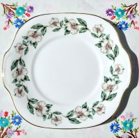 Crown Staffordshire Pear Blossom Cake Plate c.1950s