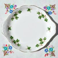 Colclough Green Ivy Leaf Cake Plate c.1960s