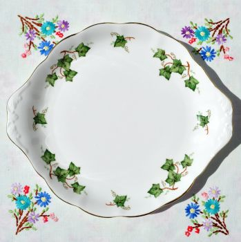 Colclough Green Ivy Leaf Pattern Cake Plate c.1960s