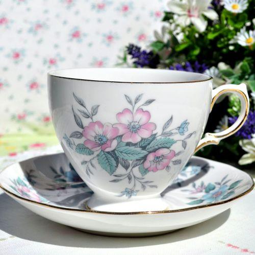Colclough Coppelia Vintage China Teacup and Saucer