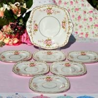 Sutherland 7 Piece Cake Plates Serving Set c.1940s